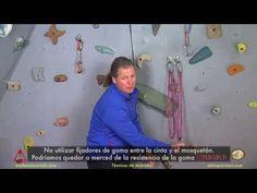 Los anillos de cinta en escalada - YouTube