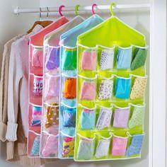 16Pockets Oxford Hanging Organizer Wardrobe Closet Shoe Storage Bag Holder Rack