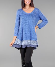 Another great find on #zulily! Sky Blue Tiered Tunic #zulilyfinds