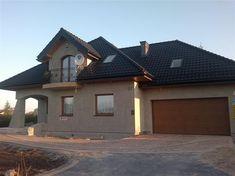 Projekt domu Ariadna II 135,9 m2 - koszt budowy - EXTRADOM Casas Country, Home Fashion, Mansions, House Styles, Cake, Home Decor, Decoration Home, Manor Houses, Room Decor