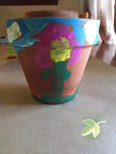 Painted Clay Pots with @Plaid Crafts Paints