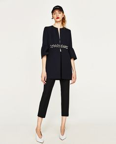 Image 1 of FROCK COAT WITH FAUX PEARLS from Zara