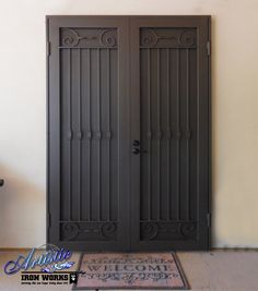 Poppins - Wrought Iron Security Screen Double Doors - Model: FD0151