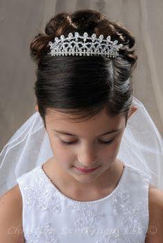 peinados para niña para primera comunion