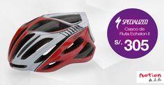 ¡El casco ideal para los amantes del #ciclismo de ruta! #Specialized Echelon II, con un diseño elegante, ergonómico y un sistema de ventilación que optimiza la entrada y flujo de aire.