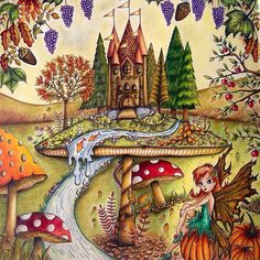 Perfect!!!!! Simplesmente perfeito!!!!! @Regrann from @forestcake1971 - Added a fairy, toadstool and stream to this picture again from the Enchanted Forest by #johannabasford ... Used by polychromos pencils again .. autumn feel for September colouring #johannabasfordsecretgarden #creative#colour#enchantedforest#adultcolouring#disabled#adem#keepsmegoing#positive#focus#determined#toadstool#fairy#autumn#artecomoterapia #florestaencantada #jardimsecreto #lostocean #coloringbook #livrodecolorir…