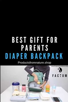 Best Gift for Parents - Diaper Backpack A Diaper Bag is one of those pieces you will use daily as a Girl Diaper Bag, Diaper Bag Backpack, Diaper Bags, Good Gifts For Parents, New Parents, Making Baby Food, Anti Theft Backpack, Parent Gifts, Travel Essentials