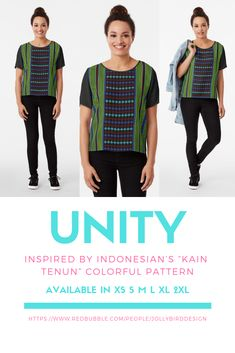 "Inspired by Indonesian's ""kain tenun"" colorful pattern. Pattern Fashion, Color Patterns, Chiffon Tops, Colorful, T Shirts For Women, Inspired, Womens Fashion, Fabric, Skirts"