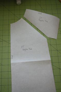 make your own raglan tee pattern - tutorial