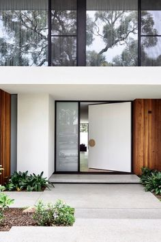 49 Ideas For House Exterior Scandinavian Doors Design Entrée, Door Design, Apex Design, Design Salon, Design Ideas, Modern Landscape Design, Modern Landscaping, Yard Landscaping, Landscaping Ideas