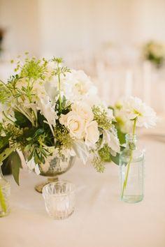 Ivory Flower Centerpiece | photography by http://www.rebecca-arthurs.com