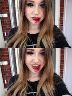 Vampire make up by =natmorley on deviantART: