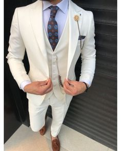 ro elegant casual tinuta barbati men suit tinuta barbati smart 2018 trend for sale small price best quality all white alb Blazer Fashion, Mens Fashion, Zara Man, Mens Suits, Nice Dresses, Like4like, Suit Jacket, Menswear, Classy