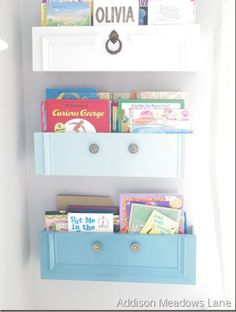 She uses old drawers everywhere in her house, and the reason is perfect!