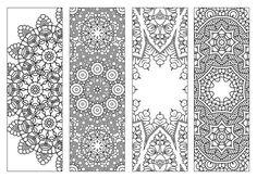 NEW | Bookmarks,Printable Intricate Mandala Coloring Pages,Instant Download,PDF,Mandala Doodling Page,Adult Coloring Pages,Kids Coloring by KrishTheBrand o