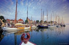 NETHERLANDS, TRADITIONAL SAILING SHIPS AT THE IJSSELMEER