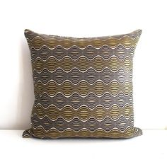 Decorative Grey Gold Hourglass Stripe Upholstery by couchdwellers