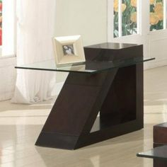 Jensen End Table By Woodbridge Home Designs 197 82 Gl Top Modern Style