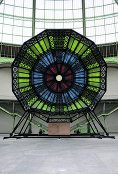 """""""The Dome"""" sound and light structure designed by Emilia and Ilya Kabakov."""
