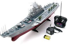 Large Navy Aircraft Carrier 1:275 Scale RC Ship Boys Men Toy Gift Present