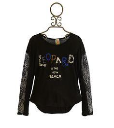 Tru Luv Lace Leopard Top for Tweens PREORDER $48.00