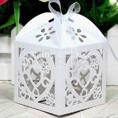 12 Piece/Set Favor Holder - Cubic Pearl Paper Favor Boxes - GBP £5.44