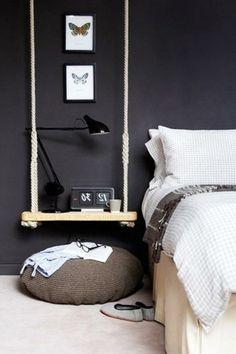 europaletten möbel selbst basteln DIY ideen  schlafzimmer