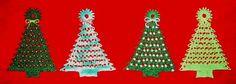 Новогодние елки со схемами вязания