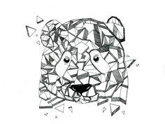 Panda Geometric #dribbble #illustration #panda #asia #geometric #shape #triangle #blackandwhite