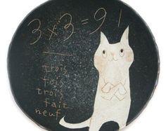 Makoto Kagoshima ceramic plate.