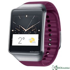"Elevenfy | NEW SAMSUNG GEAR LIVE 4GB WINE RED 1. 63"" SMART WATCH POWERED BY ANDROID WEAR"