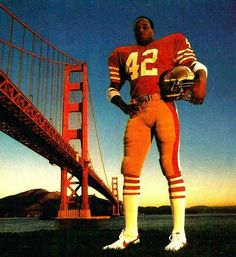 Ronnie Lott. I was completely convinced that I would grow up and marry Ronnie Lott! I didn't, but my husband did get me one of his jerseys. Now that's love! :)