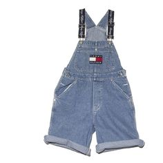 Tommy Hiliger Overall Shorts Small Perennial Merchants (1,755 MXN) ❤ liked on Polyvore featuring overalls, pants, shorts, bottoms, short overalls and ralph lauren