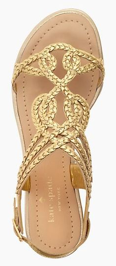 Love these braided leather gladiators sandals!