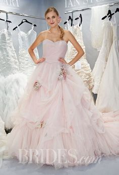 Fall 2014 wedding fashion trend--Pink Wedding Gowns!  Ian Stuart Bridal Collection--NY Bridal Market Week
