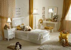 Dormitorio niña adolescente color blanco con dorado