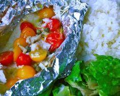 Lemon Caper Tilapia Packets   Once a Month Meals   OAMC   Freezer Meals   Freezer Cooking   Whole 30 Compliant Recipes