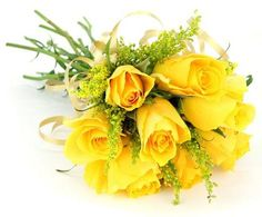 Yellow Rose Bridal Bouquets $65.