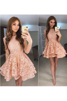 Prom Dresses Lace, A-Line Homecoming Dress, Prom Dresses Short Short Homecoming Dresses Dresses Short, Sweet 16 Dresses, Sweet Dress, Pretty Dresses, Formal Dresses, Lace Homecoming Dresses, Grad Dresses, Cheap Prom Dresses, Dress Prom
