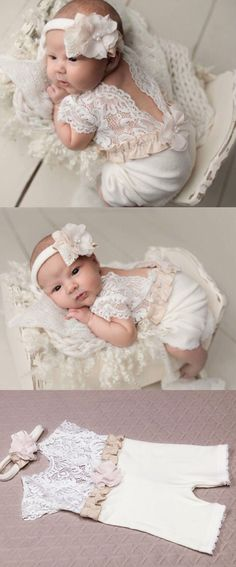 https://www.etsy.com/listing/531894576/newborn-girl-lace-romper-set-newborn?ref=shop_home_active_5 #bebe