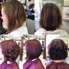#redhair #coiffurecitylangenthal #unschlaghaarschön #bob #schwarzkopfproch Red Hair, Bob, Dreadlocks, Make Up, Hair Styles, Beauty, Hairstyle, Hair Plait Styles, Redheads