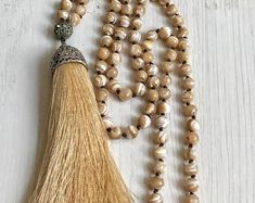 #forher #necklace #handmade #Boho #ethnic #jewlery #gifts #mala #style long moteher of pearl necklace, Unique moteher of pearl necklace, long golden OOAK necklace, Gift necklace, moteher of pearl Tassel necklace