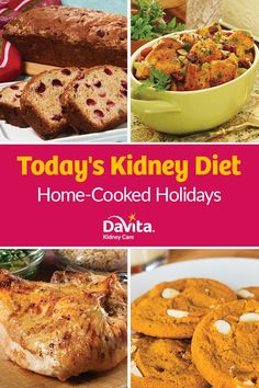 Today& Kidney Diet - Home-Cooked Holidays Davita Recipes, Kidney Recipes, Diet Recipes, Dialysis Diet, Renal Diet, Kidney Dialysis, Low Potassium Recipes, Low Sodium Recipes, Kidney Friendly Diet