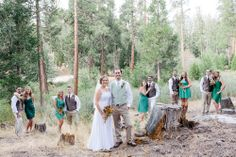 Bridal party in the forest #wedding #Jewish