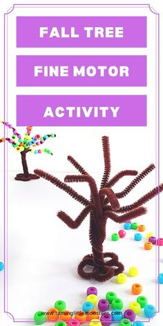 How to Make a Fall Tree Threading Activity for Kids