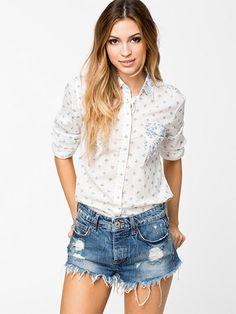 Hvide Slim Western Lee Jeans skjorter - ModeJagten