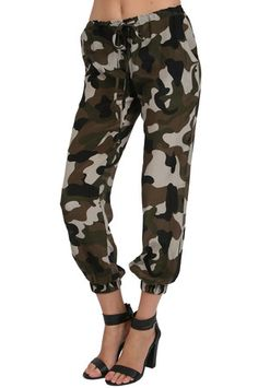 The Camo Silk Pants in Camo by Olivaceous from MFredric.com