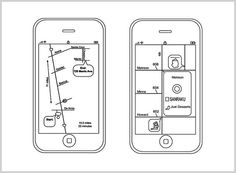 """Schematic maps"", a recent Apple patent for maps that display only information relevant to your route."