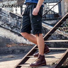 Cargo Shorts Mens Casual Cotton Brand Shorts Men Style Solid Color Short Men Cotton Summer Baggy Shorts Pockets Masculina 132