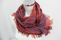Ethnic Men scarves, Color Men scarves, Striped scarf men, Rainbow linen scarf, Blue pink orange scarves, Men gifts, Turkish fabric scarf